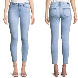 Paige Verdugo Ankle Skinny Jeans Light Wash 28